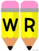 """WRITE"" Bulletin Board Pencil Header"