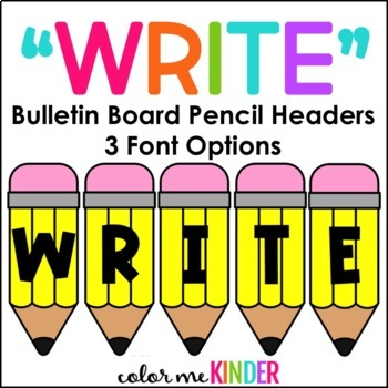 """WRITE"" Bulletin Board Pencil Header"