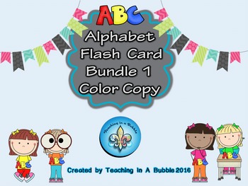 Alphabet Student-sized Color Flash Cards