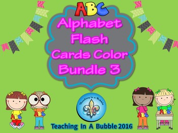 ABC Color Wall Freize and Student Flash Cards