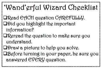 'Wand'erful Work Checklist