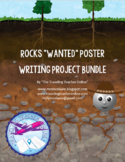 """Wanted"" Poster Types of Rocks Writing Project Bundle"