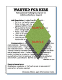 """Wanted for Hire"" motivational expectations classroom poster"
