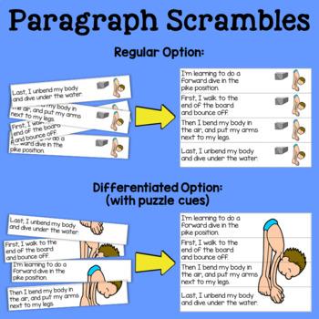 {Water Sports} Sentence & Paragraph Scrambles