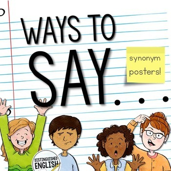 Synonyms Posters for Emotion Words