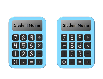 """We Add Up To A Great Class"" Calculator Back to School Editable Bulletin Board"