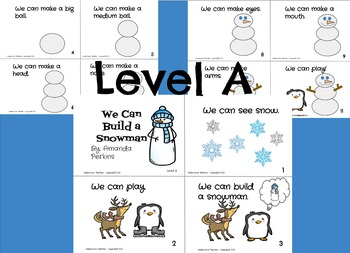 """We Can Build a Snowman"" Mini-Book {Sight Words) Emergent Reader"