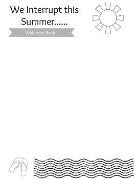 """We Interrupt this Summer"" Back-to-School Newsletter Frame"
