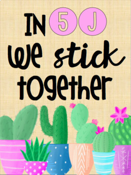 'We Stick Together' Classroom Poster FREEBIE