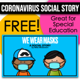"""We Wear Masks"" - Coronavirus Social Story about Wearing a Mask"