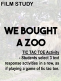 #ringin2018 'We bought a Zoo' - Creative comprehension TIC TAC TOE task