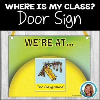 Where Are We Class Sign - Back To School