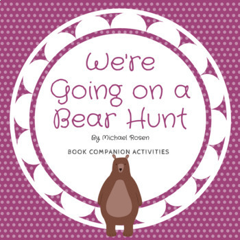 We're Going on a Bear Hunt Vocab PowerPoint, worksheets and Smart Board Bundle