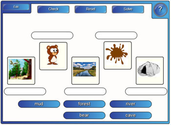 We're Going on a Bear Hunt Vocab PowerPoint, worksheets and IWB review games
