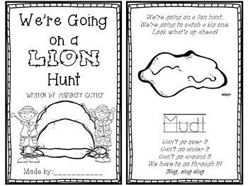 """""""We""""re Going on a Lion Hunt"""" By: Margery Cuyler (Literature Unit)"""