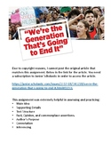 """""""We're the Generation"""" Nonfiction, Informational, Main Idea + Supporting Details"""