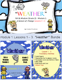 """Weather"" Bundle (Wit & Wisdom Grade 2) PowerPoint & Activity Packet"