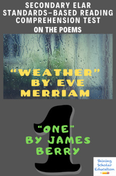 """Weather"" by Eve Merriam & ""One"" by James Berry Poetry Reading Test"