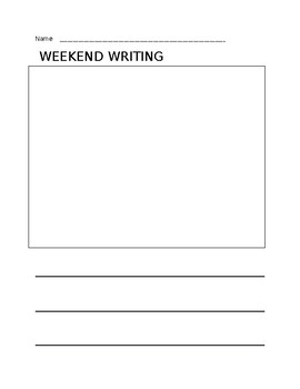 'Weekend' Writing/Journal Template