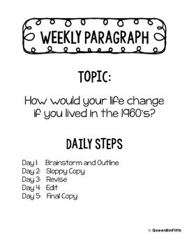 """""""Weekly Writing"""" Week 1"""