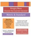 Weight Mass - Circle Closest Weight - Standard & Metric -