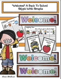 Back To School Activities: Listening & Following Directions Glyph & Graphs