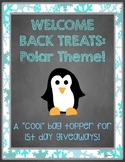 """Welcome Back"" Treats Tag - Polar/Winter Theme"