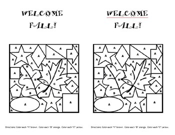 """Welcome Fall"" activity"