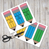 """Welcome To 1st Grade""  Pudgy Pencils Bookmarks"
