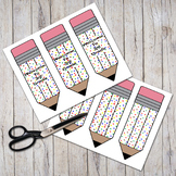 """Welcome To 3rd Grade"" Patterned Pudgy Pencils Bookmarks"