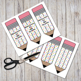 """Welcome To 4th Grade"" Patterned Pudgy Pencils Bookmarks"