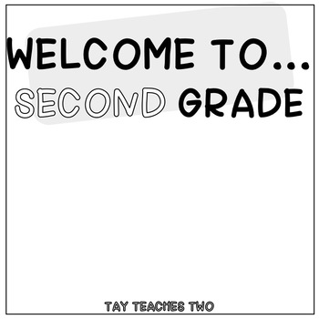"""""""Welcome To"""" Classroom Sign"""
