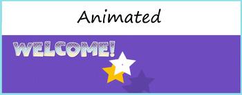 "Google Classroom Animated Theme ""Welcome"""