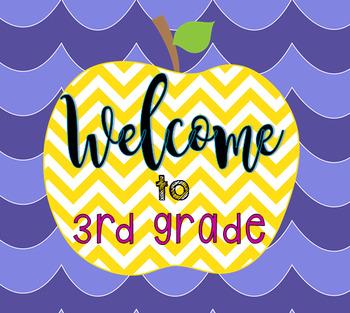 """Welcome to 3rd Grade"" logo"