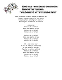 """""""Welcome to Our School"""" to the tune of 'Welcome to NY"""" by"""