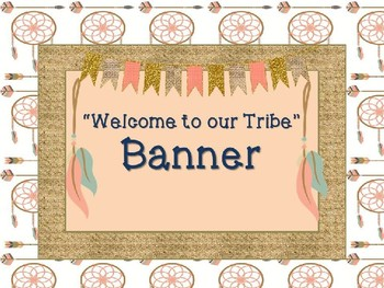 """""""Welcome to our Tribe""""  Banner"""