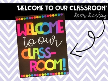 'Welcome to our classroom' BANNER / Sign #ausbts18 btsdownunder