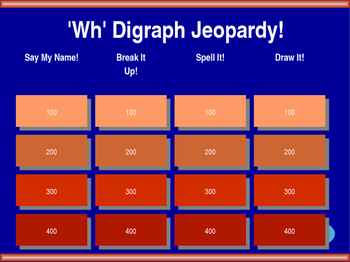 Wh Digraph Jeopardy!