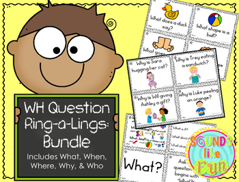 """Wh"" Question Ring-a-Lings: Bundled Set"