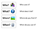 """""""Wh"""" Questions Chart for """"Mystery Object"""" Activity"""