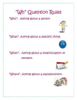 """""""Wh"""" Questions Comprehension Bundle"""