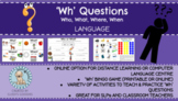 'Wh' Questions: Who, What, Where, When (Reading Comprehension)