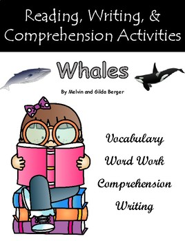 """Whales"" Activities for Guided Reading & Writing"