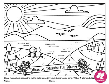 louis armstrong what a wonderful world coloring pages word search - Word World Coloring Pages