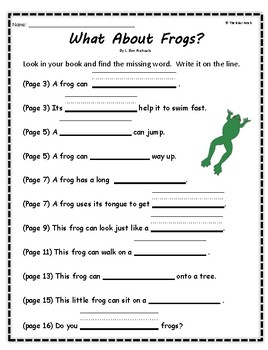 """""""What About Frogs?"""" Guided Reading Program Activities"""