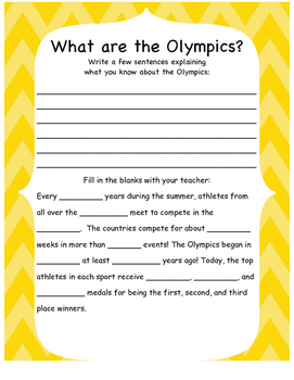 """""""What Are The Summer Olympics?"""" BOOK/RIO 2016 12 DAY UNIT *and* STUDENT JOURNAL!"""