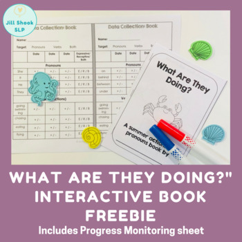 """What Are They Doing?"" pronoun and action interactive book FREEBIE"