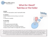 """What Do I Need - Life Skills"" Task Box or File Folder"