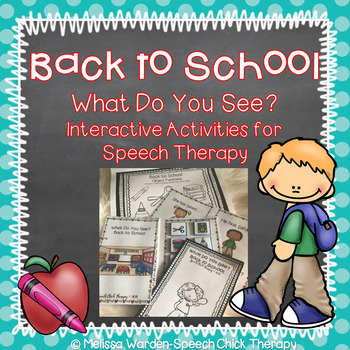 Interactive Back to School Activities for Speech Therapy