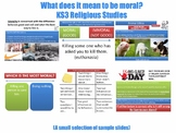 'What Does it Mean to be Moral?' [7 Lesson Course] Moral Philosophy (Middle/KS3)